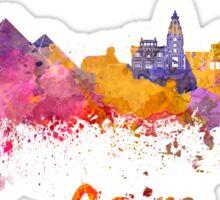 Cairo skyline in watercolor Sticker