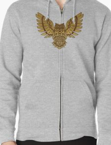 Wise one in the trees Zipped Hoodie