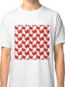 Trendy elegant girly red white cute bow pattern  Classic T-Shirt