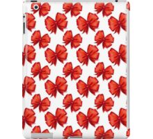 Trendy elegant girly red white cute bow pattern  iPad Case/Skin