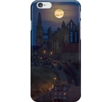 Super Moon Rise over Whitby Abbey North Yorkshire Dracula  iPhone Case/Skin