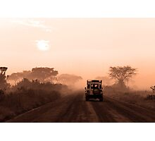 Range Rover on Safari Photographic Print