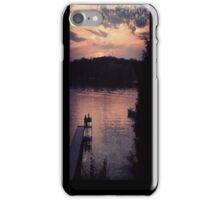 Sunset over the lake - Iphone case iPhone Case/Skin