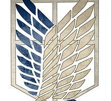 Survey Corps Insignia by zeecyanide
