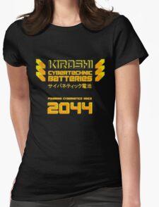Kiroshi Cybertechnic Batteries - Yellow/Orange Womens Fitted T-Shirt