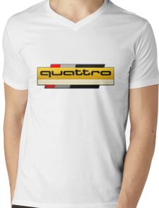 Audi Quattro Tribute Mens V-Neck T-Shirt