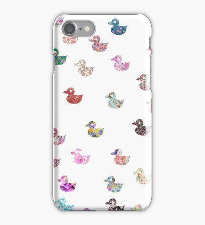 Cute whimsical chic vintage floral ducks pattern  iPhone Case/Skin