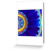 Blue Floral Dome Greeting Card