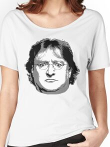 GabeN - Black and White Women's Relaxed Fit T-Shirt
