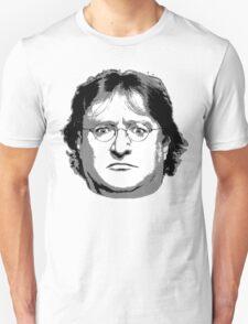 GabeN - Black and White Unisex T-Shirt