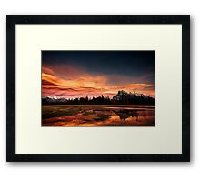 Vermilion Lakes Sunset, Banff Framed Print