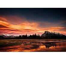 Vermilion Lakes Sunset, Banff Photographic Print