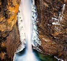 Johnston Canyon Waterfall by Jai Honeybrook