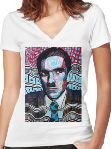 Ron Mael is awesome Women's Fitted V-Neck T-Shirt