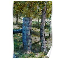 Fence post and gum tree 1 Poster