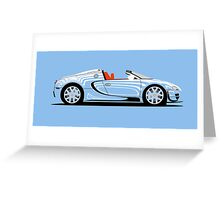 2014 Bugatti Veyron 16.4 Grand Sport Vitesse L'or Blanc Greeting Card