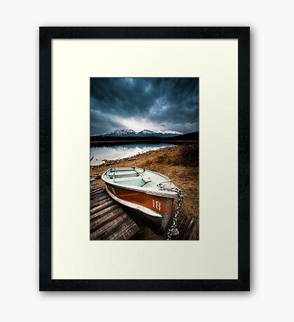 Row Boat, Patricia Lake  Framed Print