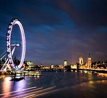 River Thames, London England by Jai Honeybrook