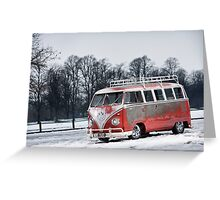 Red White Splitty Greeting Card
