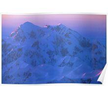 Denali Alpenglow Poster