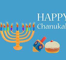 Chanukah Greeting Card by curlyorli