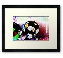 Water Ball- enhanced colors. Framed Print