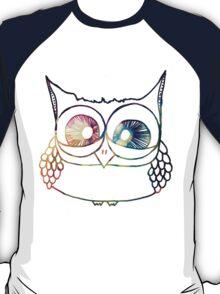 Coloured Freakout Owl T-Shirt