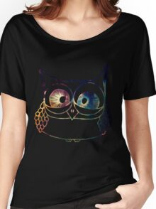 Coloured Freakout Owl Women's Relaxed Fit T-Shirt