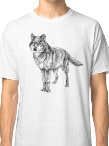 Grey wolf illustration Classic T-Shirt