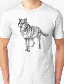 Grey wolf illustration T-Shirt