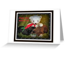Busy day wasn't it! Greeting Card