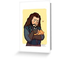 Thorin and Kitten Greeting Card