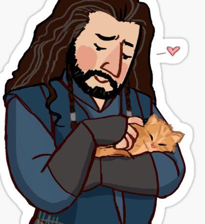 King and Kitten Sticker
