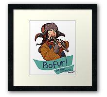 Bofur at Your Service Framed Print