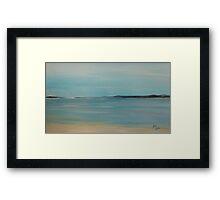 October Beach 2011 Framed Print