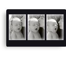 Yawning baby Canvas Print