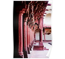 Columns at the Red Fort Poster