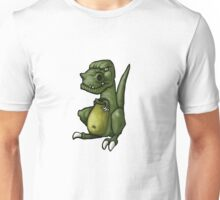 Very grumpy green dinosaur in a mood Unisex T-Shirt