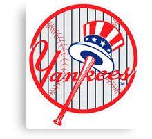 New York Yankees Pinstripes Logo Canvas Print