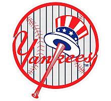 New York Yankees Pinstripes Logo Photographic Print