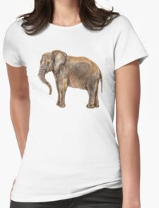 Illustration of african elefant Womens Fitted T-Shirt