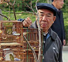 Bird Seller, Nanjing, Jiangsu by DaveLambert