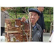 Bird Seller, Nanjing, Jiangsu Poster