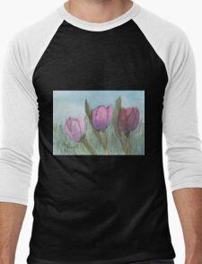 Three Tulips  Men's Baseball ¾ T-Shirt