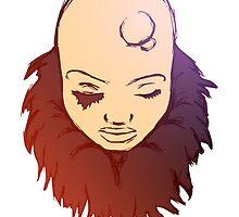 Bald Woman Color 3 by crystofurr