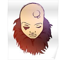 Bald Woman Color 3 Poster