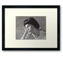 Portrait of Alaleh Framed Print