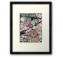 White abstract Framed Print