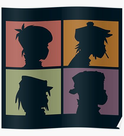 Gorillaz - Demon Days (Silhouette) Poster