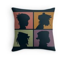 Gorillaz - Demon Days (Silhouette) Throw Pillow